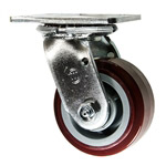 4 Inch Swivel Caster with Polyurethane Tread on Poly Core Wheel