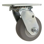 "4"" Swivel Caster with Thermoplastic Rubber Tread Wheel"