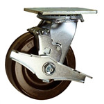5 Inch Swivel Caster with Phenolic Wheel and Brake
