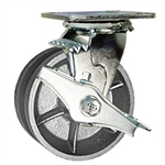 5 Inch Swivel Caster with V Groove Wheel and Brake