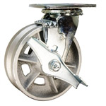 6 Inch Swivel Caster with V Groove Wheel and Brake