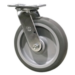 "8"" Swivel Caster with Thermoplastic Rubber Tread Wheel"