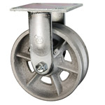 6 Inch Rigid Caster with V Groove Wheel