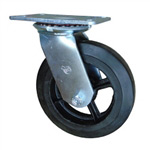 6 Inch Swivel Caster with Rubber Tread Wheel