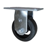 5 Inch Rigid Caster with Rubber Tread Wheel