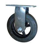 8 Inch Rigid Caster with Rubber Tread Wheel