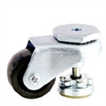 threaded stem  mount leveling caster