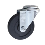 "4"" Swivel Caster with bolt hole and hard rubber wheel"