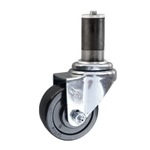 "3"" Expanding Stem Swivel Caster with Hard Rubber Wheel"