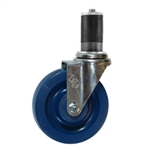 "5"" Expanding Stem Swivel Caster with Solid Polyurethane Wheel"