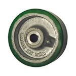 "5"" x 1-1/2"" polyurethane tread on cast iron drive wheel with keyway"