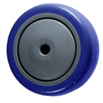 "3.5"" x 1.25"" blue Polyurethane on Poly Wheel"