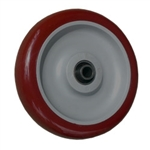 "5"" x 1.25"" Maroon Polyurethane on Poly Wheel"