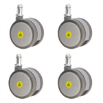 set of four 2-3/8 inch gray MRI safe casters