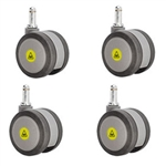 set of four 3 inch gray MRI safe casters