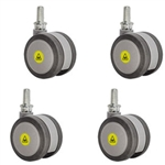 3 inch gray threaded stem MRI safe casters