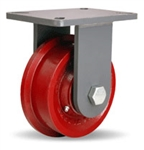 7 Inch Rigid Caster with Flanged Wheel
