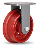 8 Inch Rigid Caster with Flanged Wheel