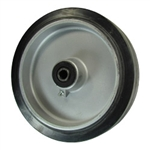 "8"" x 2"" rubber on Aluminum Wheel"