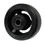 "4"" x 2"" rubber on cast iron wheel"