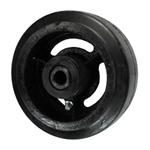 "5"" x 2"" rubber on cast iron wheel"