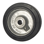 "6"" x 2"" rubber on cast iron drive wheel with metric bore"