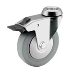 5 inch total lock swivel caster with bolt hole for hospital applications