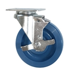 "5"" Stainless Steel Swivel Caster with Brake and Polyurethane Wheel"