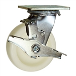 5 Inch Stainless Steel Swivel Caster - Nylon Wheel