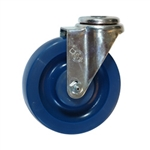 "5"" Stainless Steel Bolt Hole Swivel Caster with Solid Polyurethane Wheel"