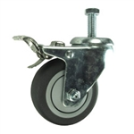 "3"" Stainless Steel Swivel Caster with Thermoplastic Rubber Tread and Total Lock Brake"