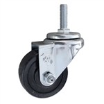Metric Threaded Stem Swivel Caster with Rubber Wheel