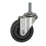 "4"" Metric Threaded Stem Swivel Caster with Phenolic Wheel"