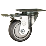 "3"" Swivel Caster with Thermoplastic Rubber Tread and Total Lock Brake"