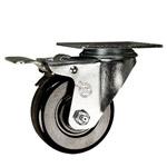"3-1/2"" Swivel Caster with Phenolic Wheel and Total Lock Brake"