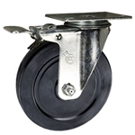 "5"" Swivel Caster with Soft Rubber Wheel and Total Lock Brake"
