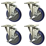 Universal commercial kitchen caster and restaurant equipment casters