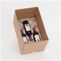 12 Bottle Molded Pulp Wine Shipper