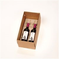 2 Bottle Molded Pulp Wine Shipper