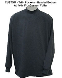 Custom Mock Turtleneck Long Sleeve