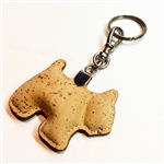 cork key ring holder - dog