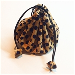 Cork Draw String Pouch Polka Dots