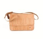 Cork Computer Bag in a natural Cork colour.