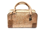Silver small cork bag with lock