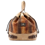 Brown Brushoff Drawstring Cork Bag