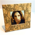 Cork Frame Small Square fennel and Gold