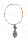 Cork Necklace Heart of Heart of Viana