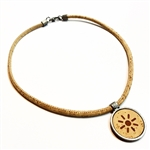 Cork necklace With Sun Symbol