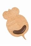 Beige Mouse Shaped Mouse Pad