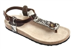 brown snake cork sandal